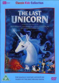the last unicorn dvd cover