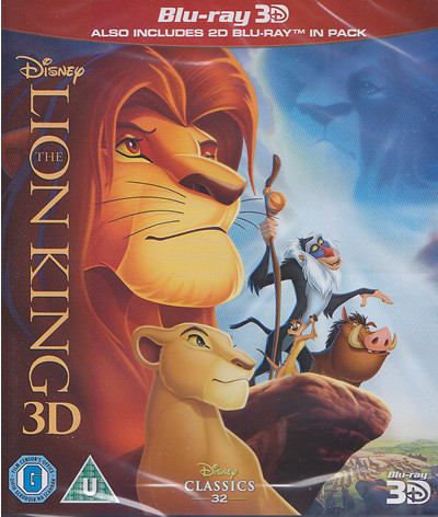 lion king 3d blu-ray cover