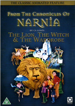 lion witch wardrobe cartoon dvd cover