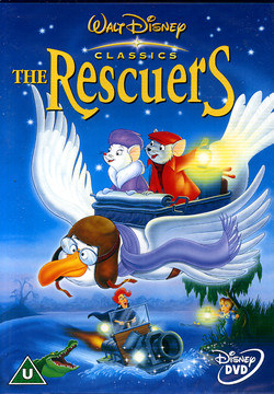 The Rescuers Disney film dvd cover