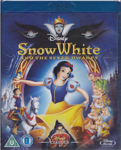 snow white disney blu-ray cover