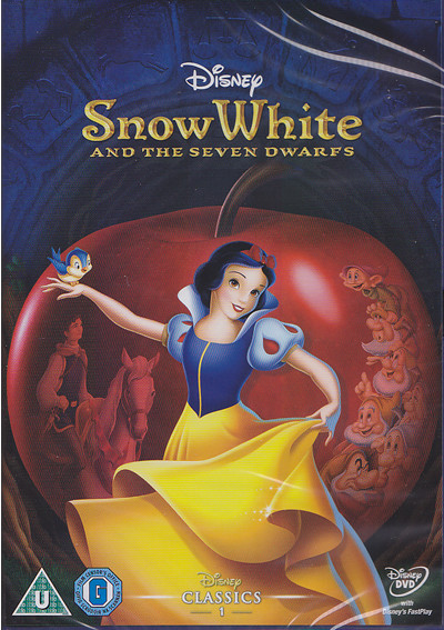 snow white disney dvd cover image