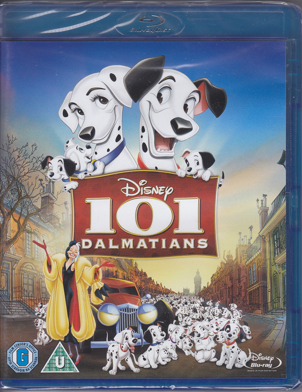 101 dalmatians cartoon blu-ray cover