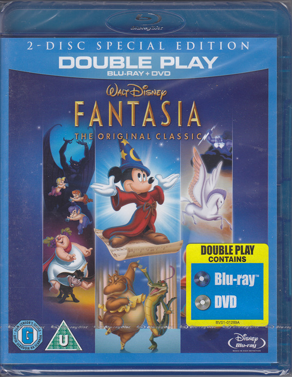 disney fantasia dvd and bluray