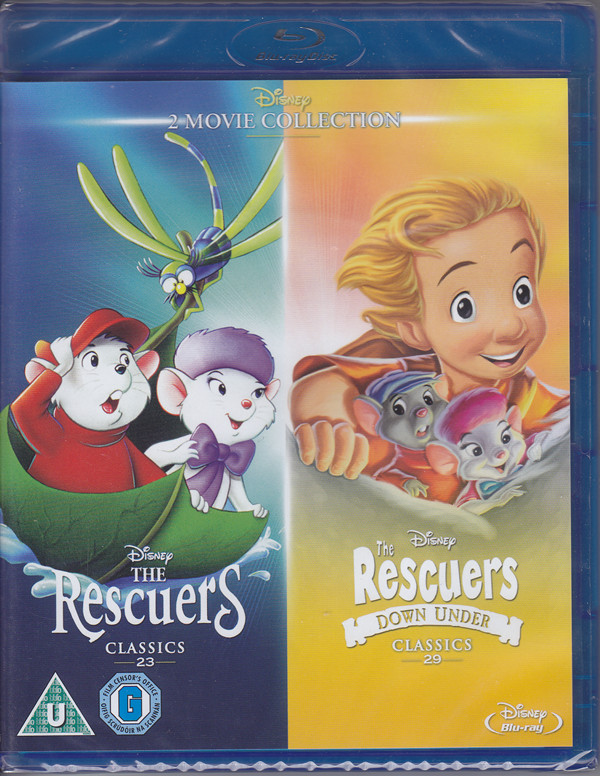the rescuers rescuers down under blu-ray cover